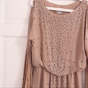 Haute Hippie Dresses - Haute Hippie Nude Dress